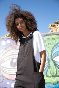 Black Dungarees - United Change Makers - Organic Dungarees