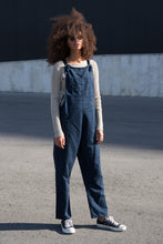 Load image into Gallery viewer, Navy Dungarees - United Change Makers - Organic Dungarees