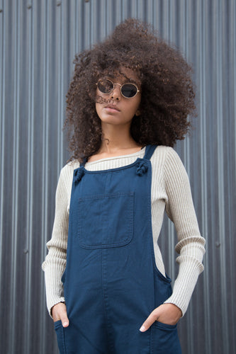 Navy Dungarees - United Change Makers - Organic Dungarees