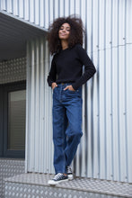 Load image into Gallery viewer, MAYA - High Waist Straight Leg Organic Jeans - Dark