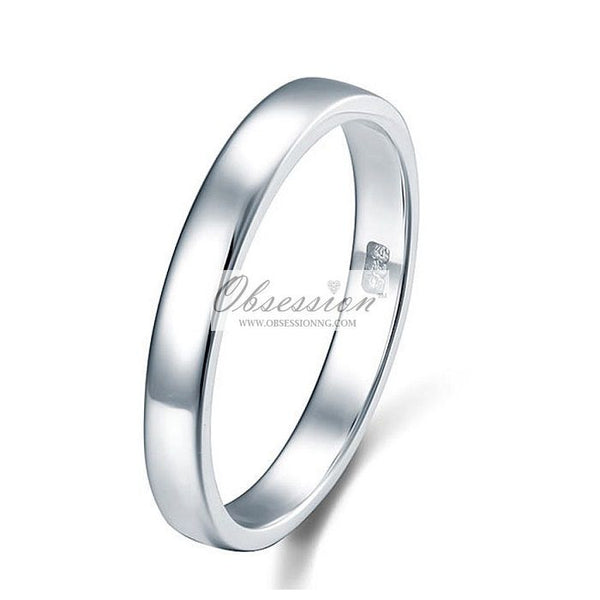 Sterling Silver Wedding Band - 4MM