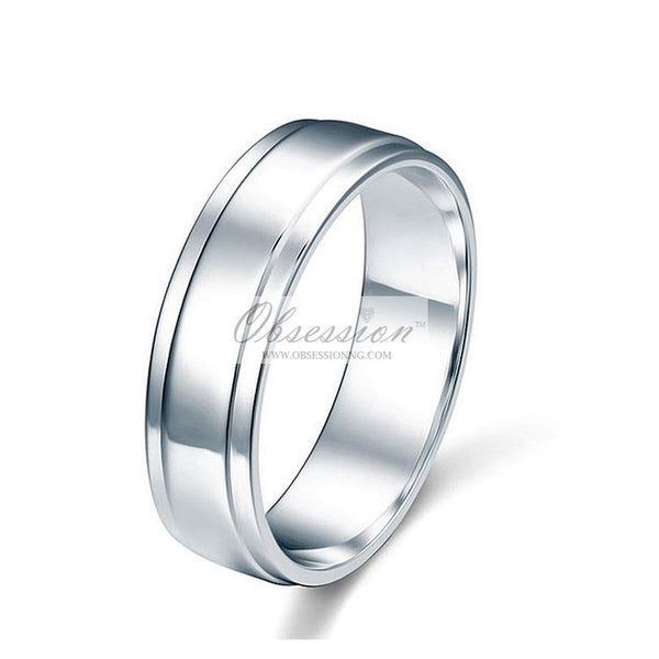 Men's Noah Wedding Band - Sterling Silver