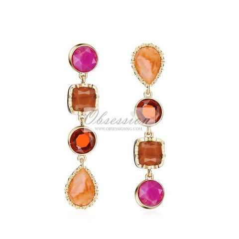 Cantina Earrings - Pink Multi