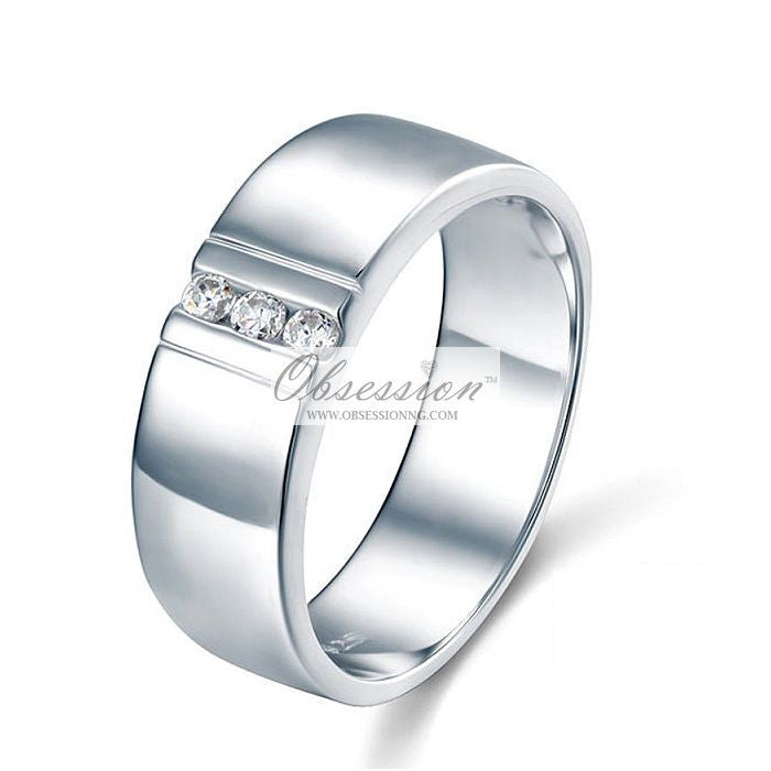 Men's Duke Wedding Band - Sterling Silver
