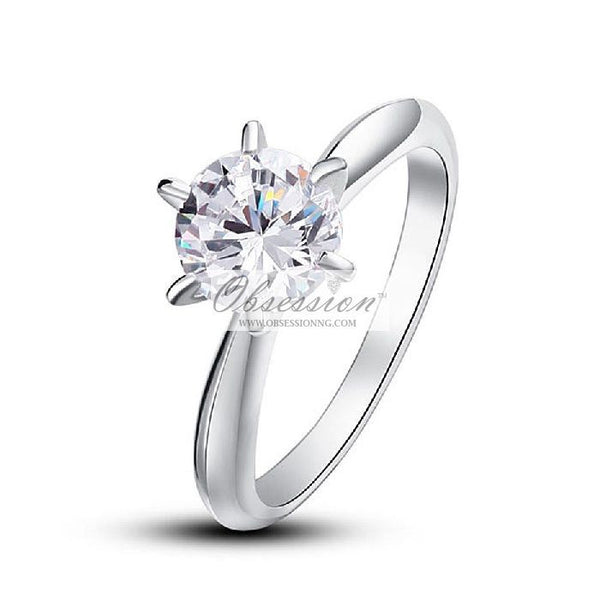 Erin Engagement Ring - Sterling Silver