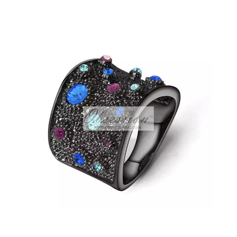 Fantasia Cocktail Ring - Onyx