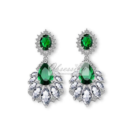 Fauna Crystal Earrings - SSP Green