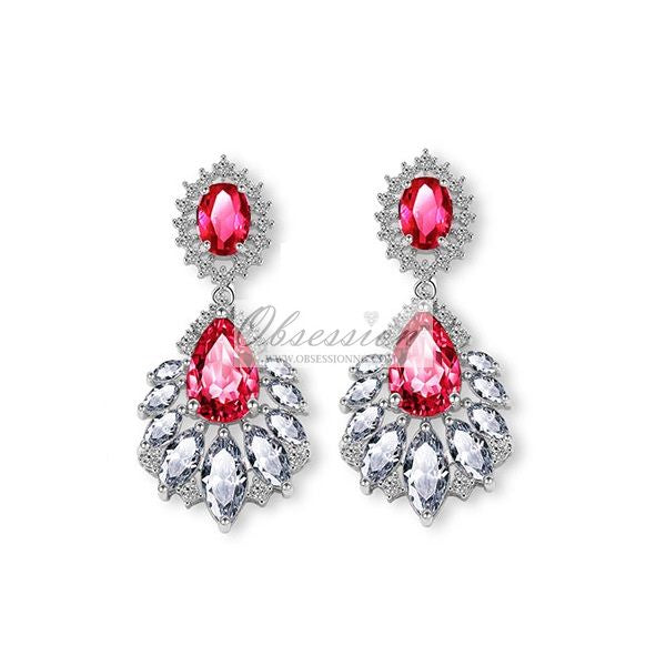 Fauna Crystal Earrings - SSP Pink