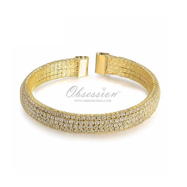 Henley Cuff Bangle - Gold