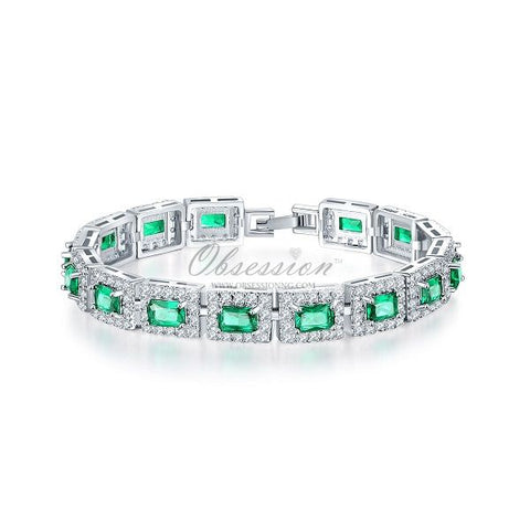 Honor Crystal Bracelet - SSP Green