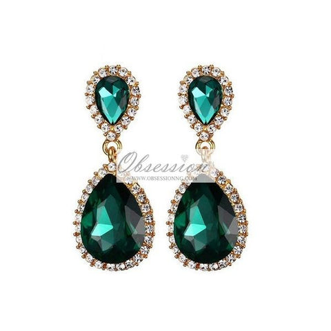 Iris Crystal Earrings