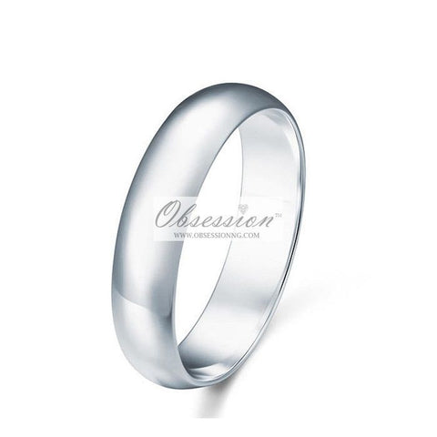 Men's Sterling Silver Wedding Band - 6MM
