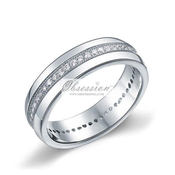 Men's Austin Wedding Band - Sterling Silver