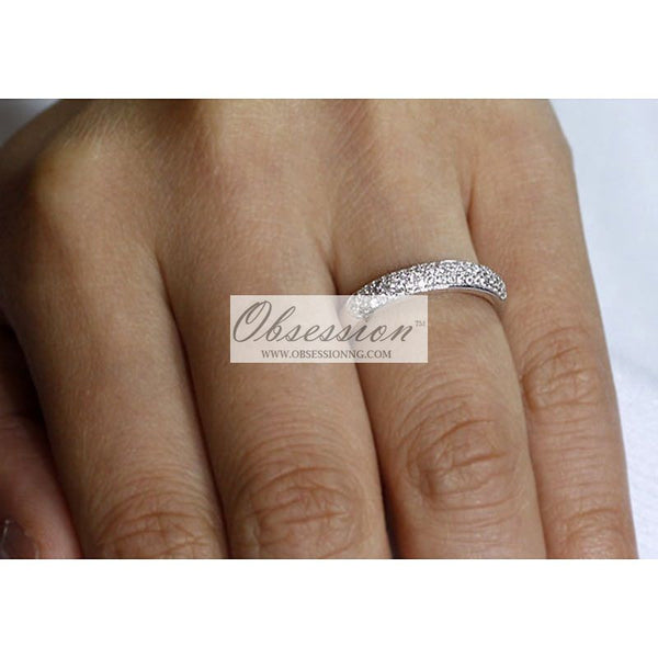 Monaco Wedding Band - Sterling Silver