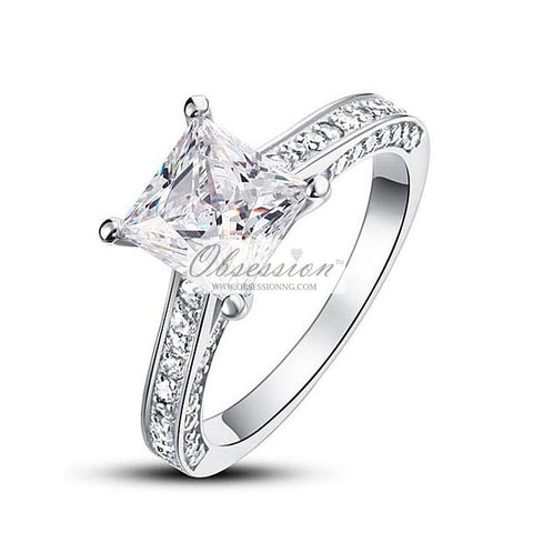 Paris Engagement Ring - Sterling Silver