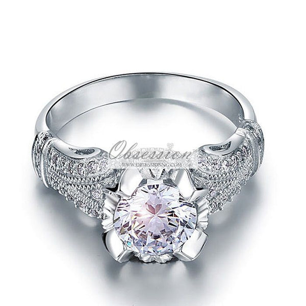 Rosalind Engagement Ring - Sterling Silver