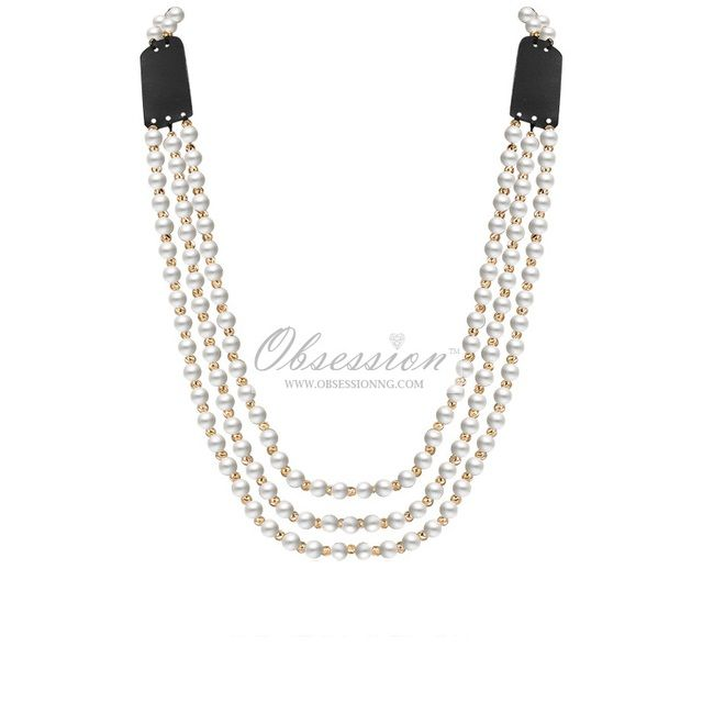 Zinnia Layered Pearls Necklace