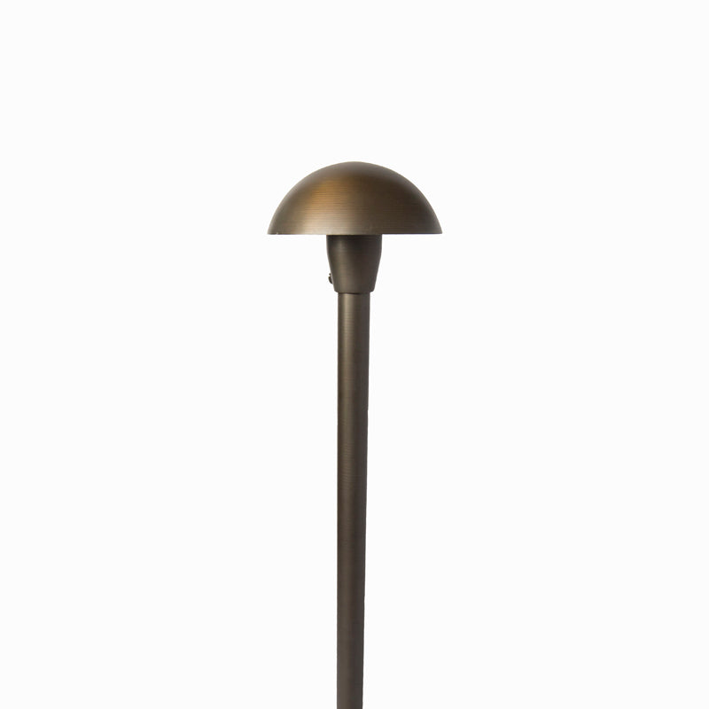 Oak Cast Brass 50W Mushroom Area Light W/ LED Lamp - Beverly Lighting