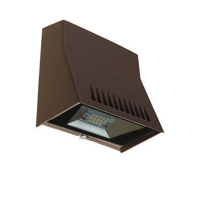 Westgate 12W LED Mini Cutoff Wallpack With Photocell- Bronze - Beverly Lighting