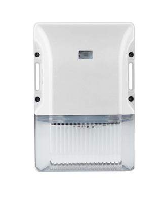 Westgate Modern LED Small Non-Cutoff Wallpack With Photocell- White - Beverly Lighting