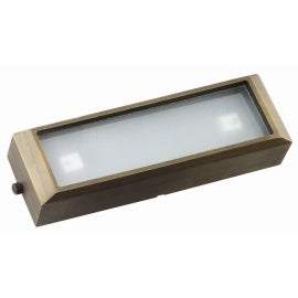 BQL LV52S Die Cast Brass Low Voltage Long Surface Mounted Step Light- Bronze - Beverly Lighting