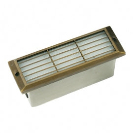 BQL LV53 Die Cast Brass Low Voltage Long Surface Mounted Step Light- Bronze - Beverly Lighting