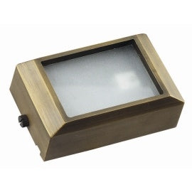 BQL LV58S Die Cast Brass Low Voltage Short Flush Mount Step Light- Bronze - Beverly Lighting