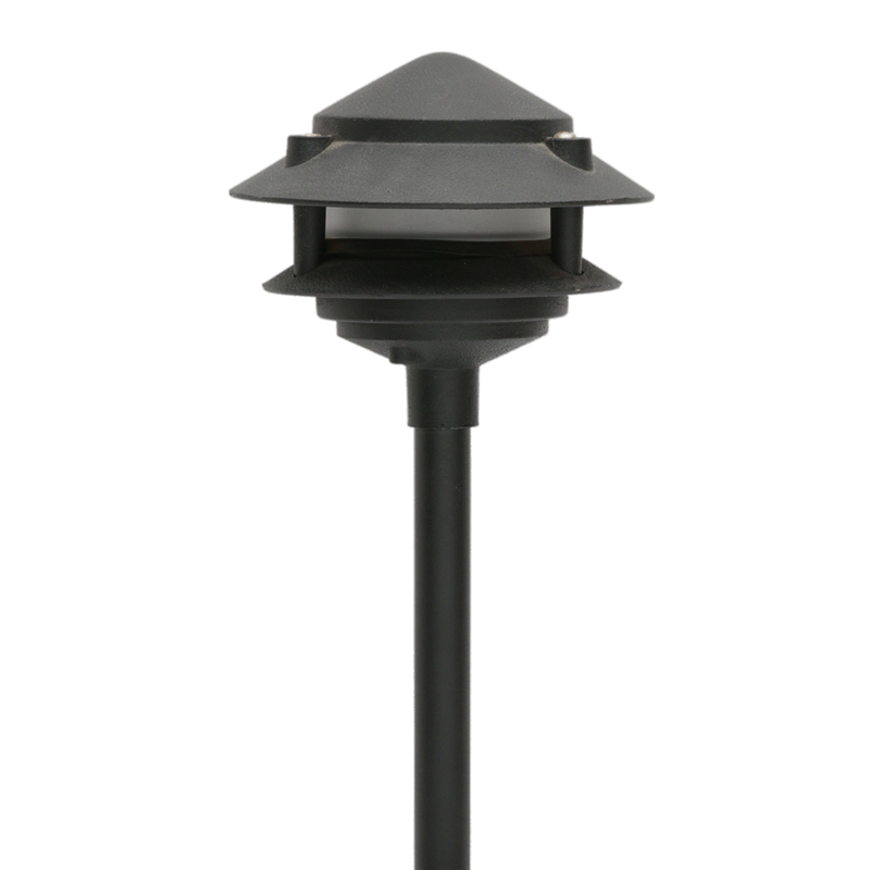 Oak Aluminum 2-Tier Pagoda Light - Beverly Lighting