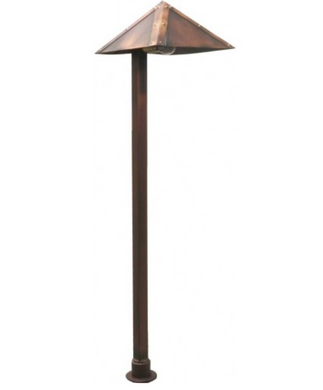 Orbit 26W B107 Pyramid Brass Path Light- Aged Green - Beverly Lighting