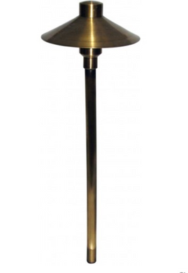 Orbit 20W B225 Solid Brass Mushroom Path Light - Beverly Lighting