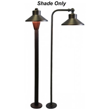 Orbit B186C-BRASS SHADE FOR B180 OR B280 SERIES Path Light - Beverly Lighting