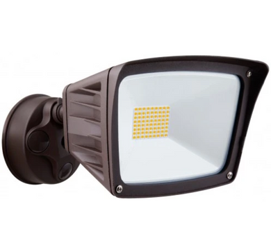 Westgate 40W Bronze LED Security Light With Optional Motion Sensor or Photocell 120V - Beverly Lighting