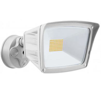 Westgate 40W White LED Security Light With Optional Motion Sensor or Photocell 120V - Beverly Lighting