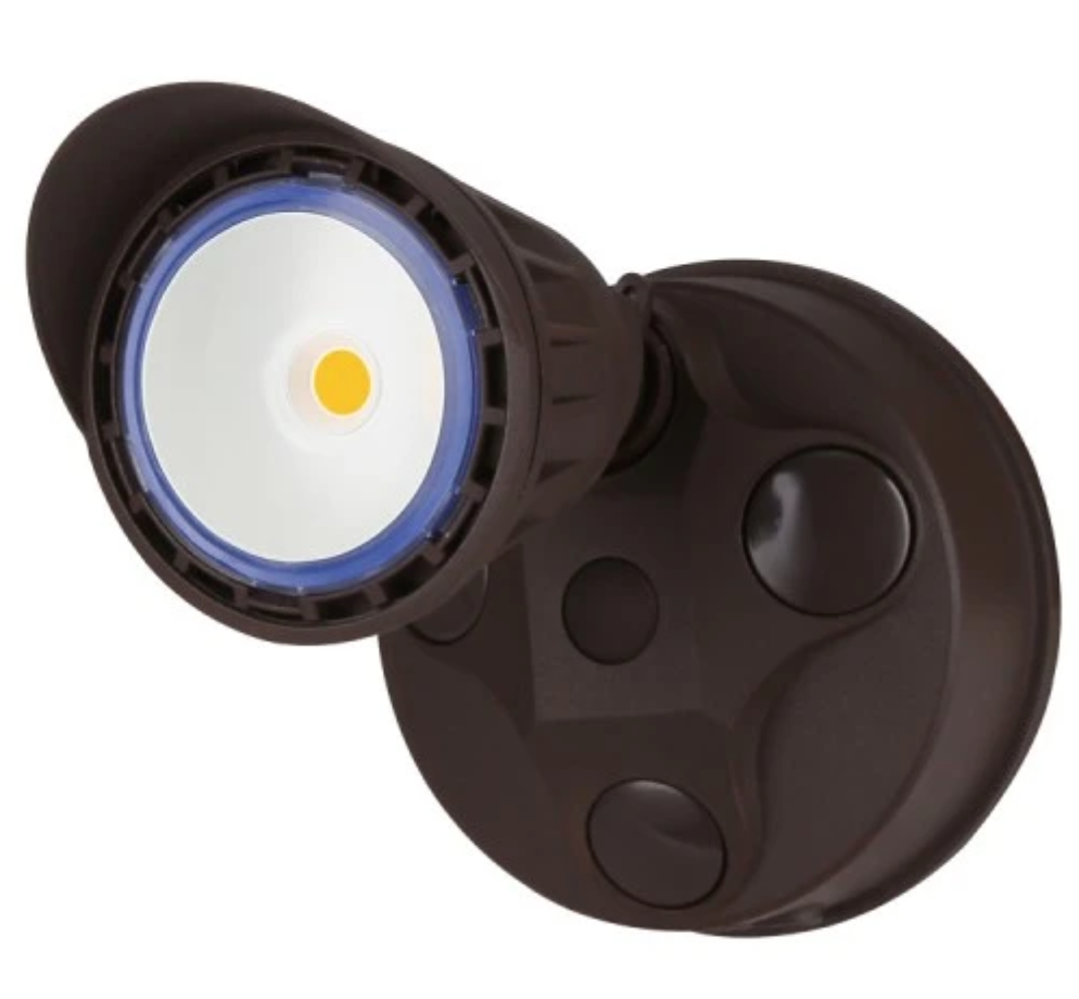 Westgate 10W Dark Bronze LED Security Light With Optional Motion Sensor or Photocell 120V - Beverly Lighting