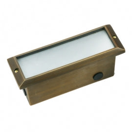 BQL LV52 Die Cast Brass Low Voltage Flush Mount Brick Step Light- Bronze - Beverly Lighting