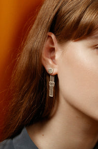 Martine Viergever - Earring - Lucretia - silver
