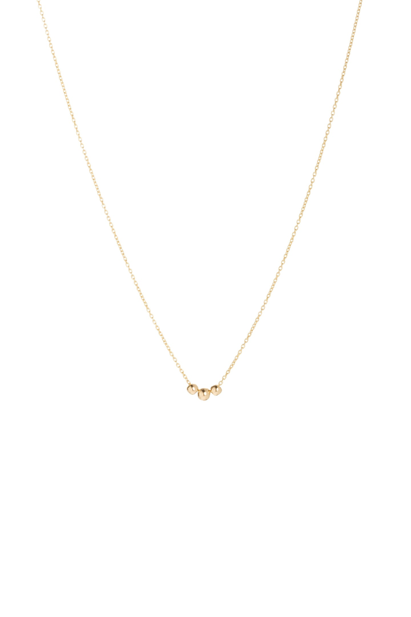 Aynur Abbott - N#02 Delicate triple ball gold necklace
