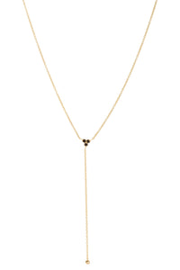 Aynur Abbott - N#12 Black diamond long drop necklace