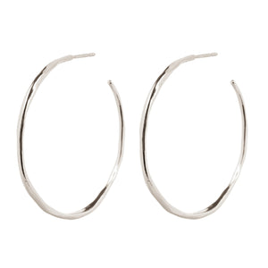 Wouters & Hendrix - ESC00018 - organic shaped hoops - silver