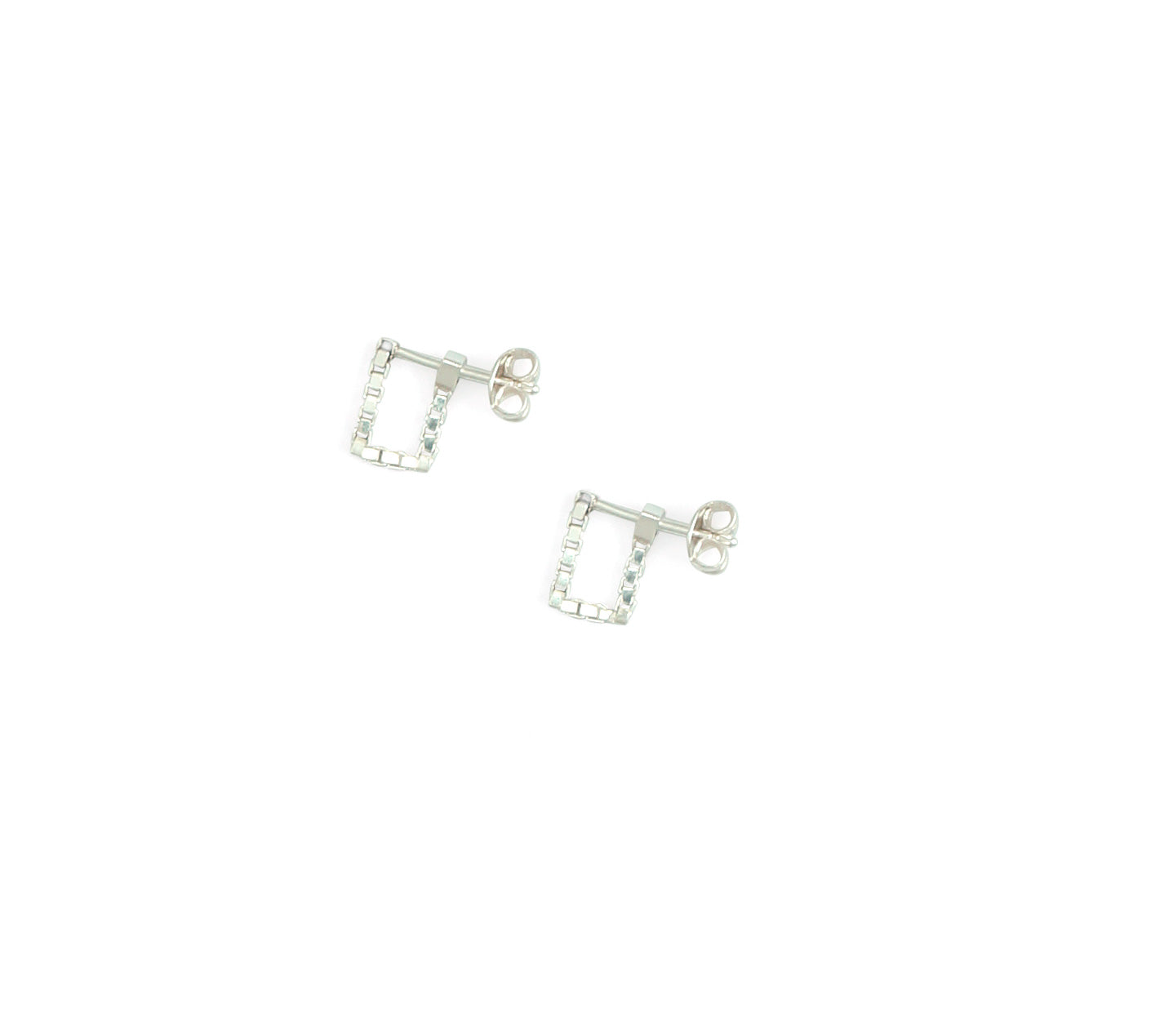 Martine Viergever - Earring - Square simple - silver