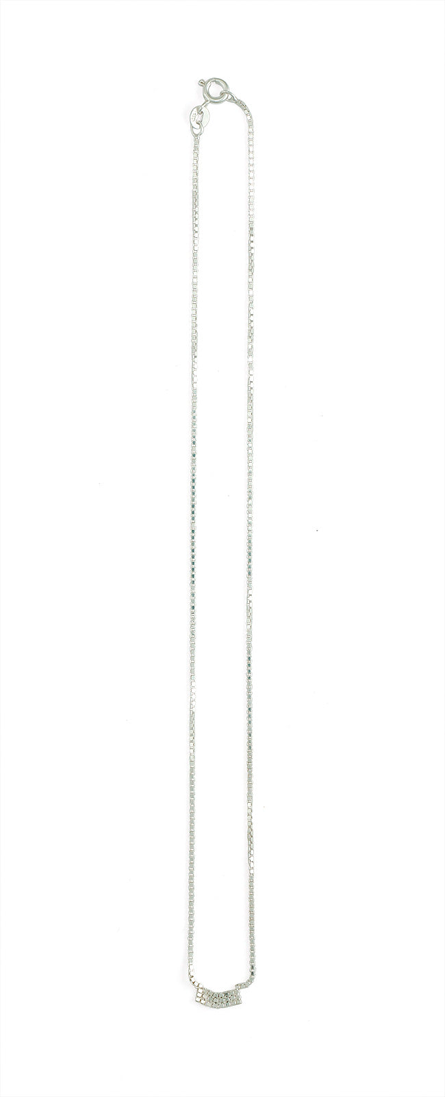 Martine Viergever - Necklace - Fringe 1 - silver