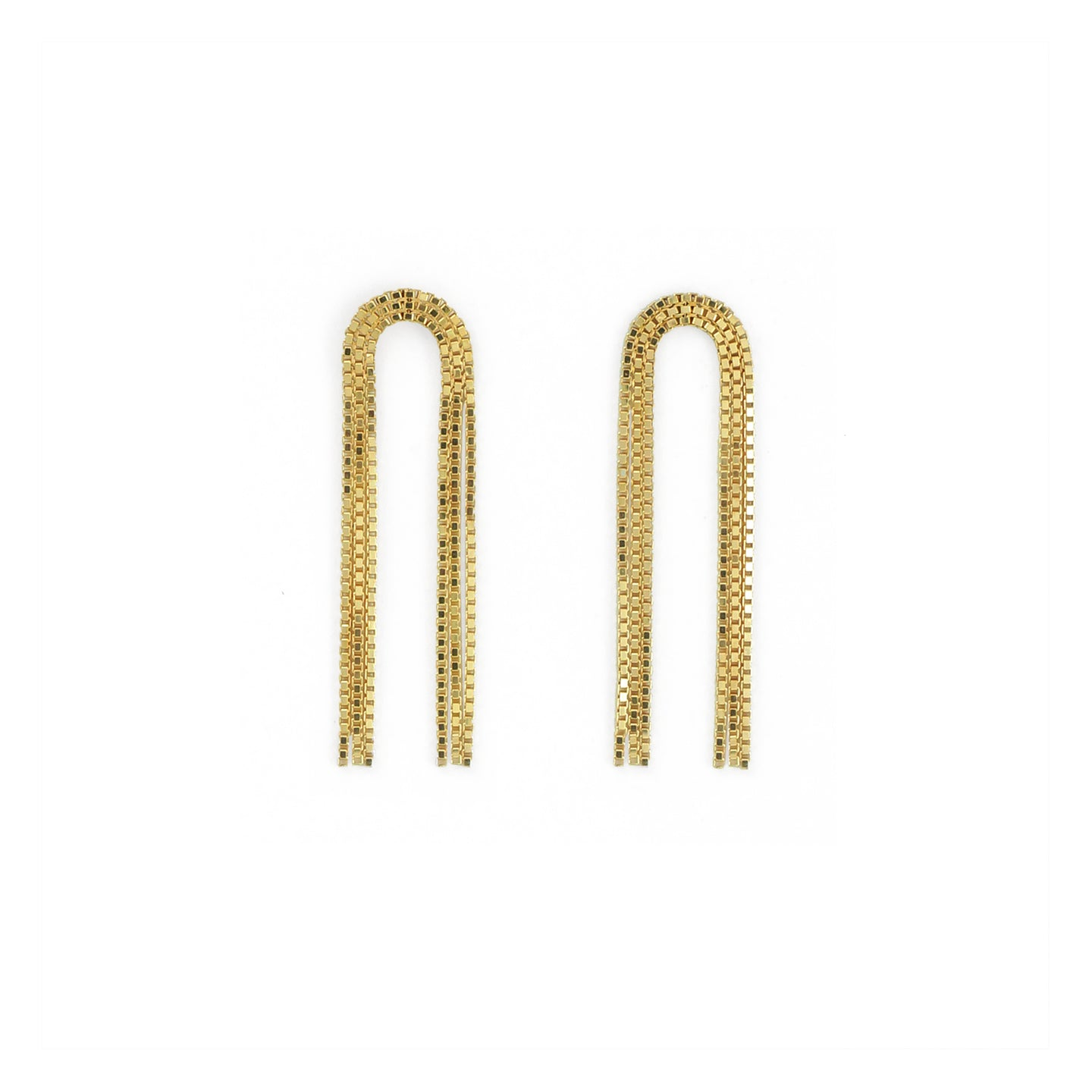 Martine Viergever - Earring - Arcade short - gold