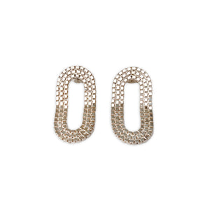 Martine Viergever - Earring - OO Romeo - silver