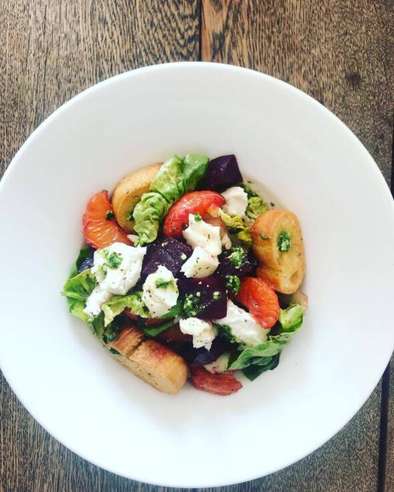 Beetroot, Goats Cheese & Satsuma Salad