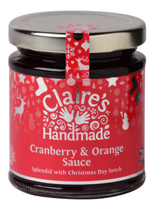 Claire's Handmade - Cranberry & Orange Sauce 200g - Christmas Delivery