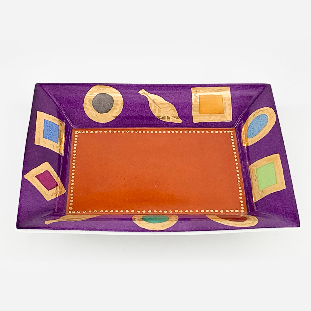 """COLORS AND GOLD"" Accessory tray"