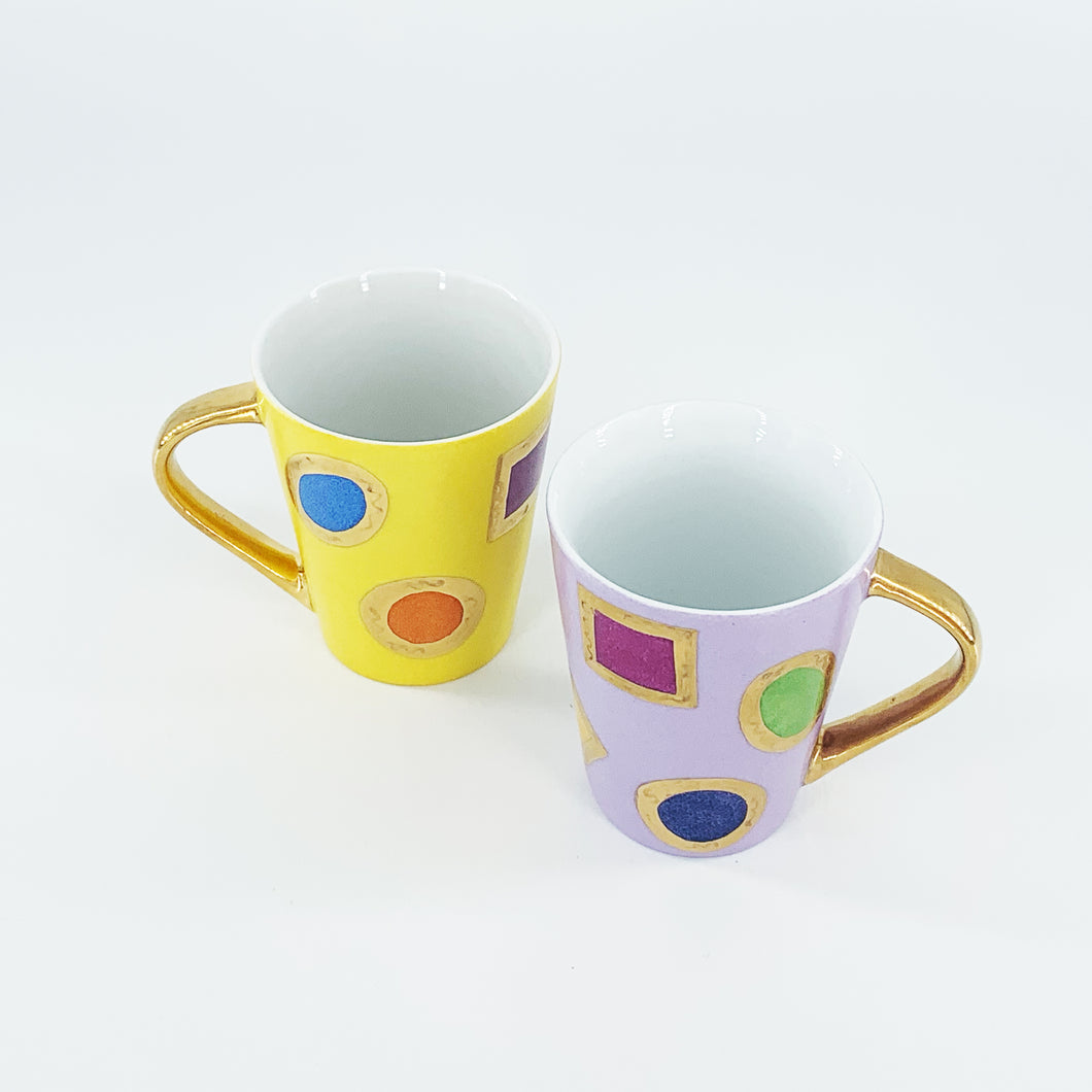 Set 2 tazze Mug serie COLORS AND GOLD