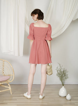 Archive: Cabin Puff Sleeves Dress (Rose)