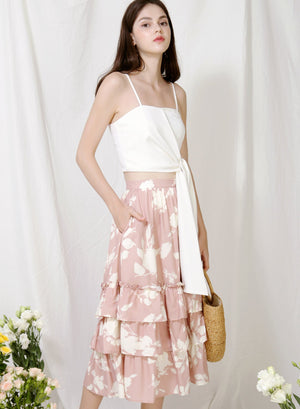 Archive: Charmed Ruffle Tiers Skirt (Blush Floral)