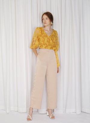 Stratus Organza Wrap Top (Honey)